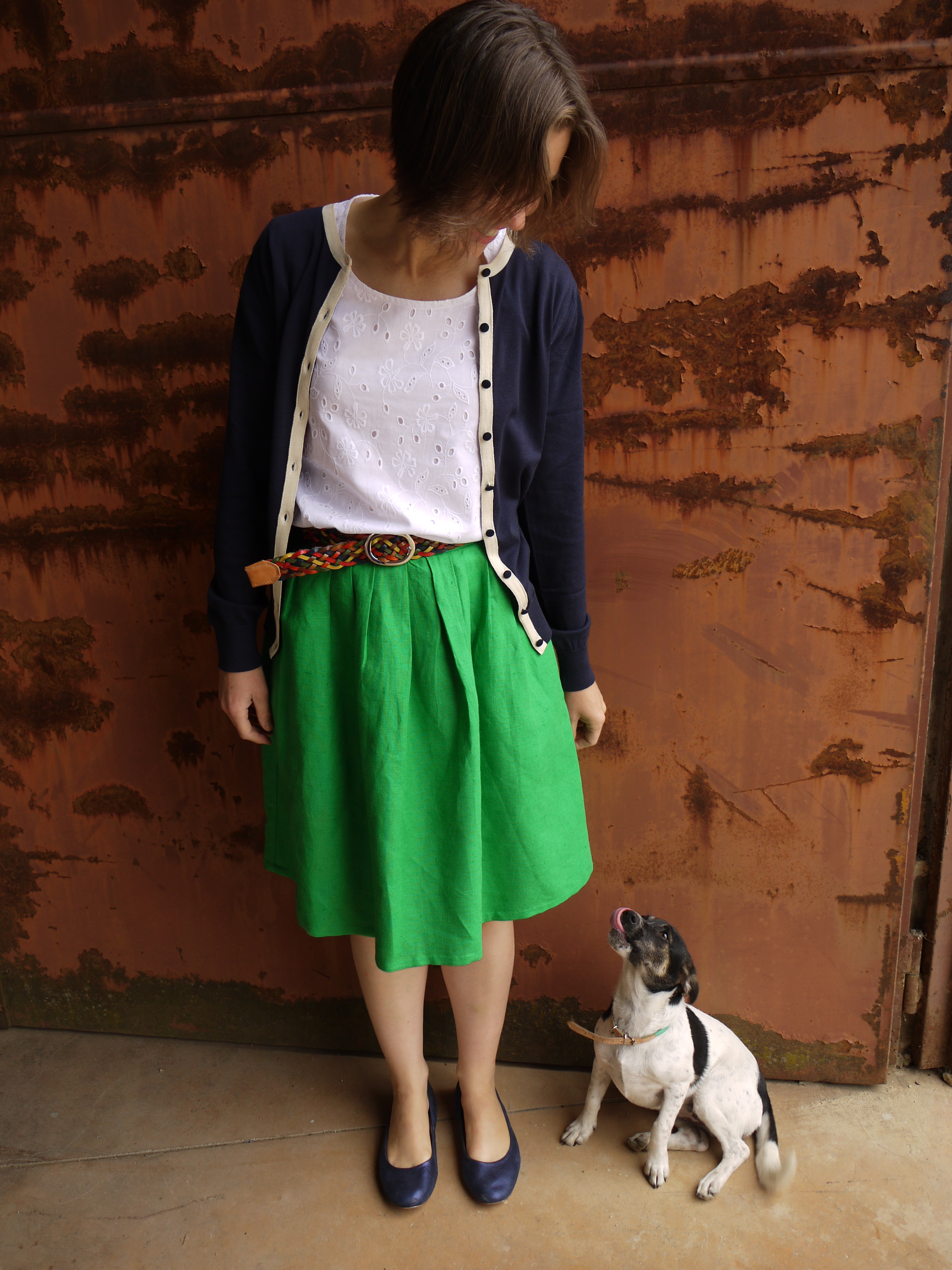 Grainline Studio Scout tee and Simplicity skirt