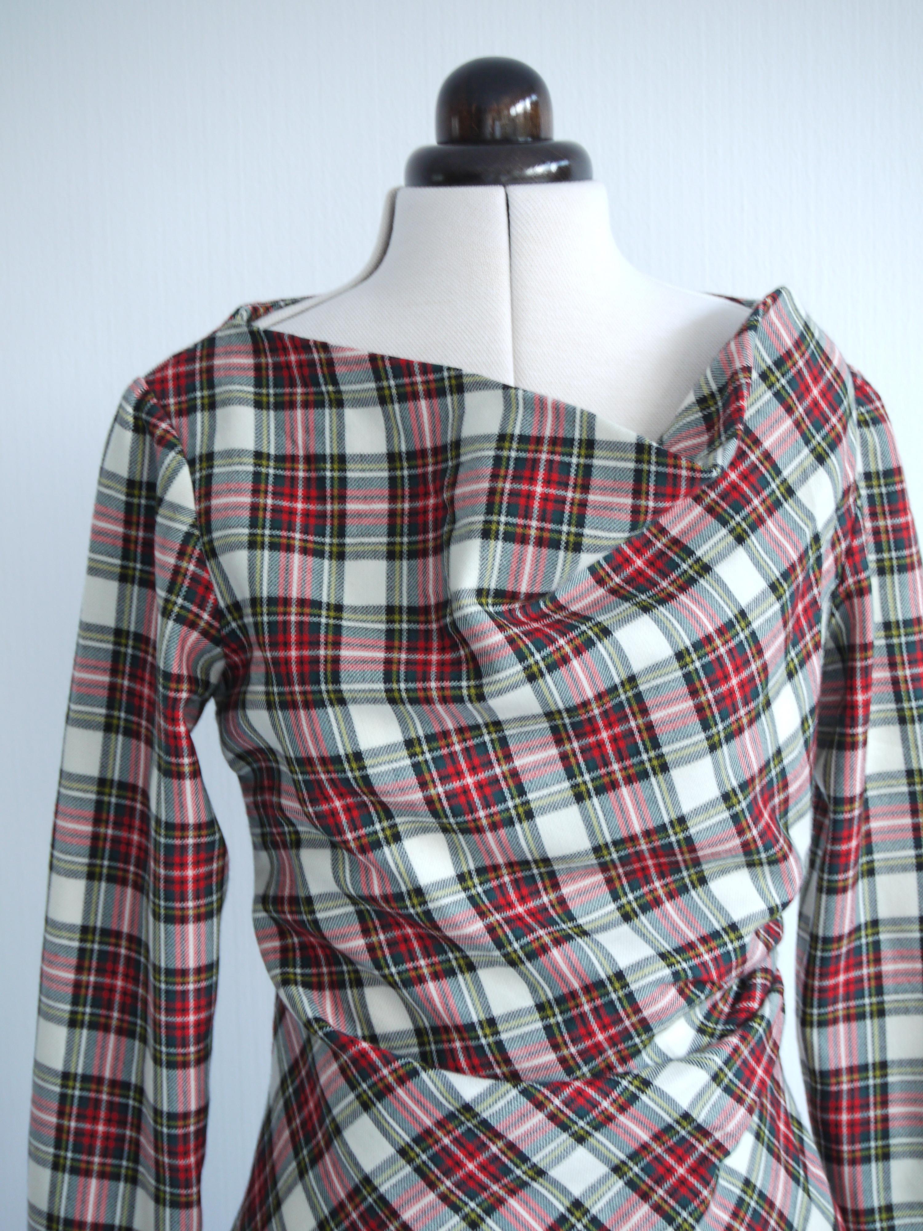 Anglomania dress in tartan merino wool