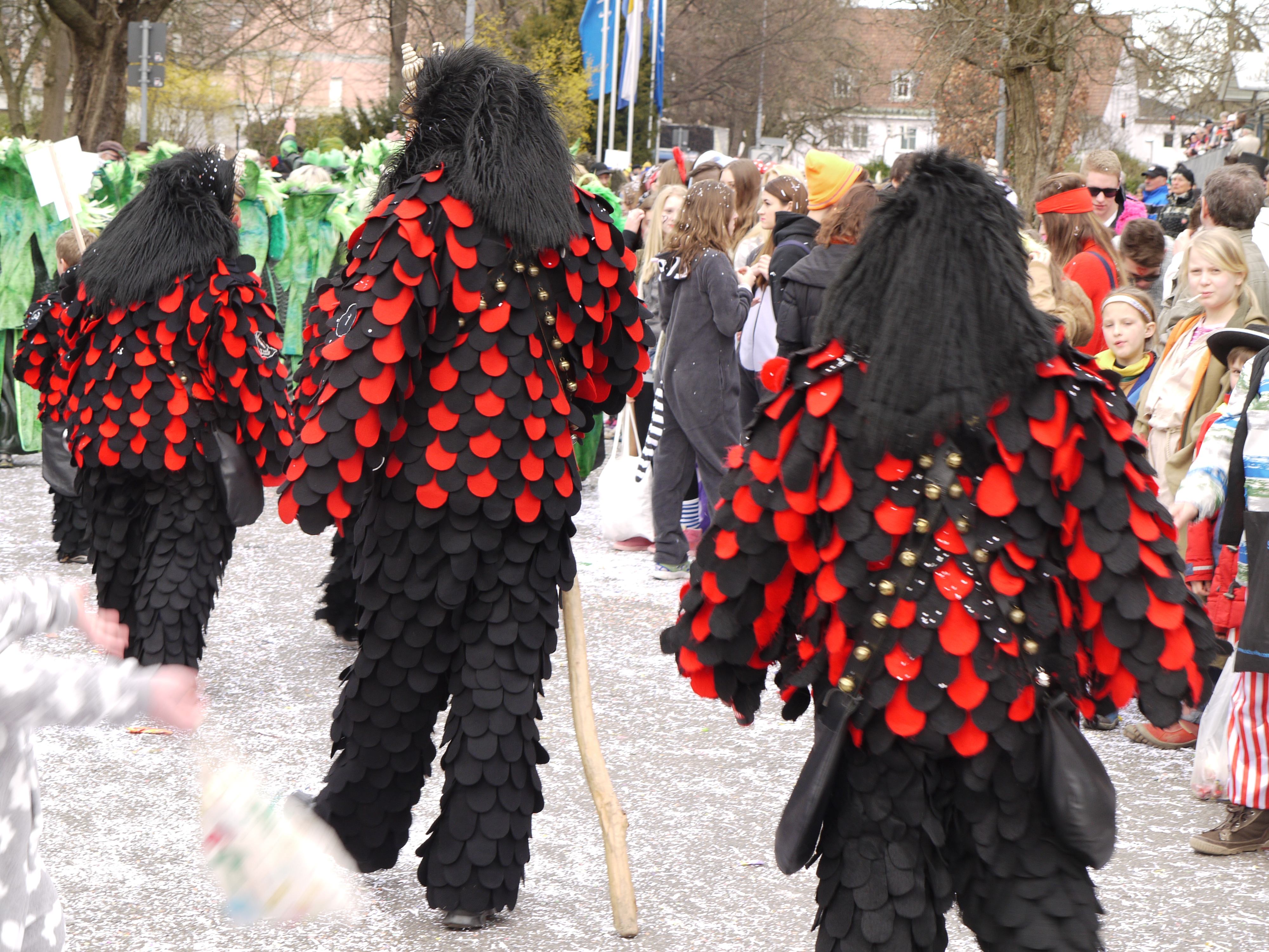 Elaborate hand made carnival costumes