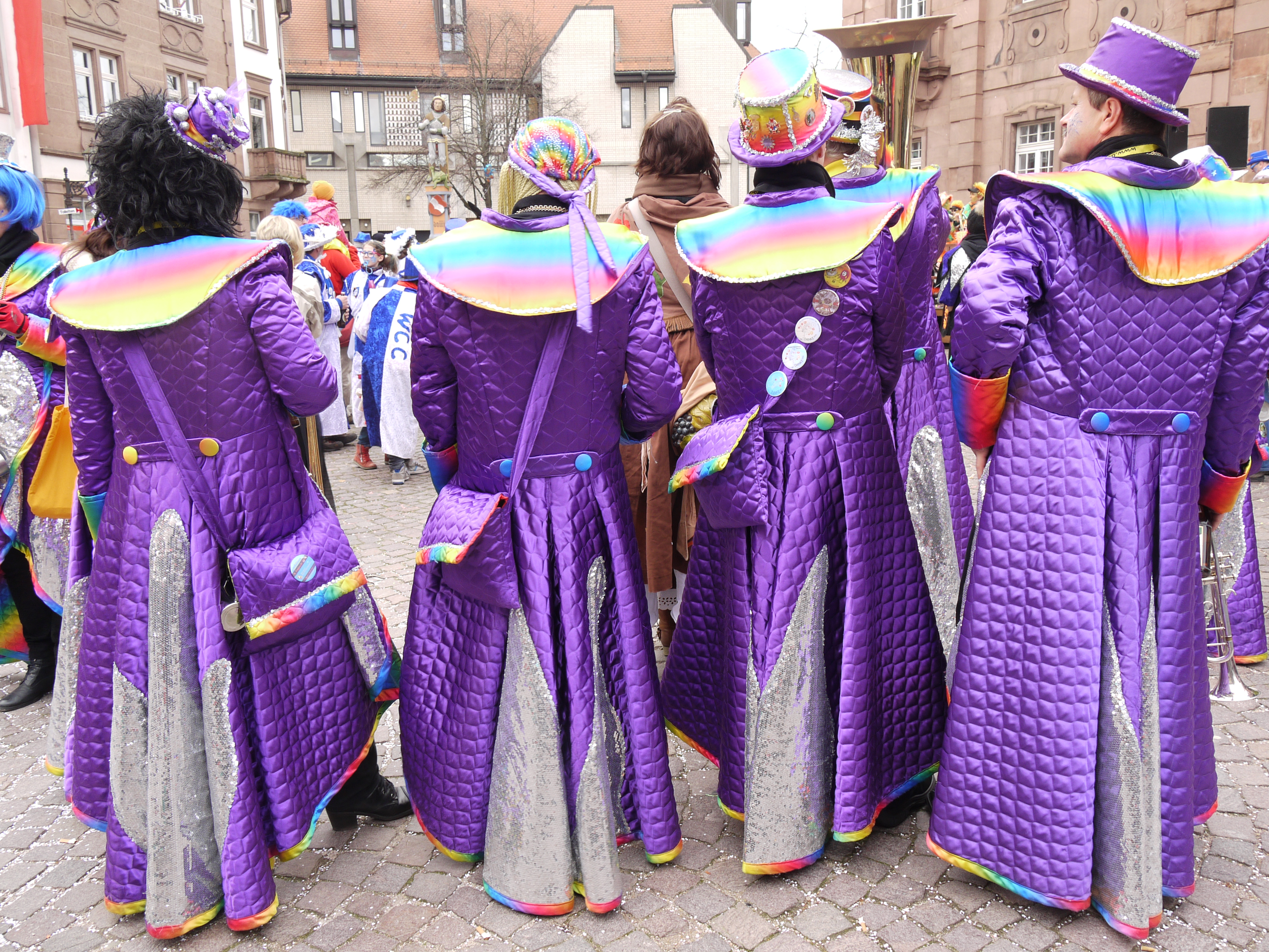 Hand-made German carnival costumes