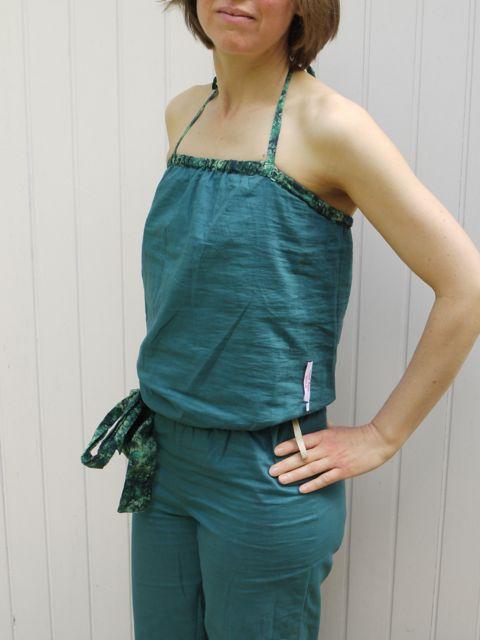 Lining of Liberty Art Fabrics tana lawn cotton jumpsuit