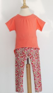 Hosh pants in Liberty Art Fabrics babycord and Celestial tee in organic cotton single jersey