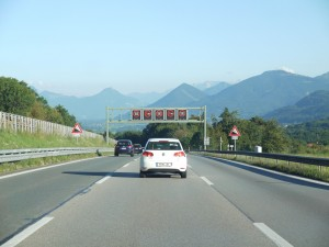 Autobahn heading south