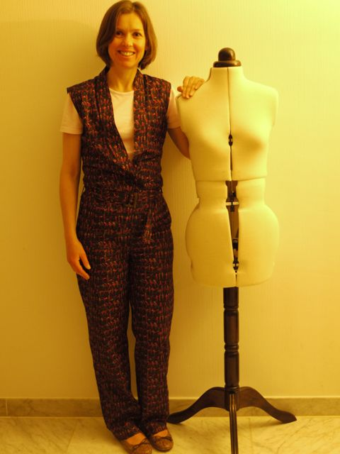 Ralph Pink jumpsuit in Liberty tana lawn 'Tiny Dancers'