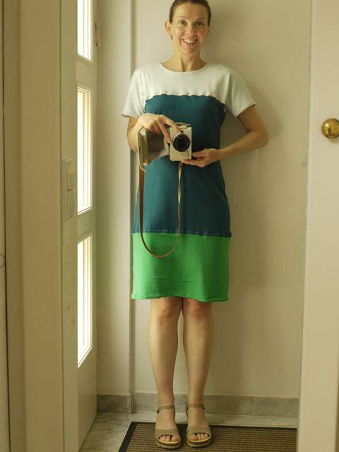 #MMM14 - Day 22 - Vogue colour-block dress in interlock cotton jersey.