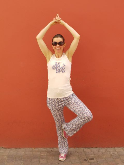 #MMMay14 - Day 5 - Self drafted yoga top and pants in organic cotton jersey and Liberty cotton jersey