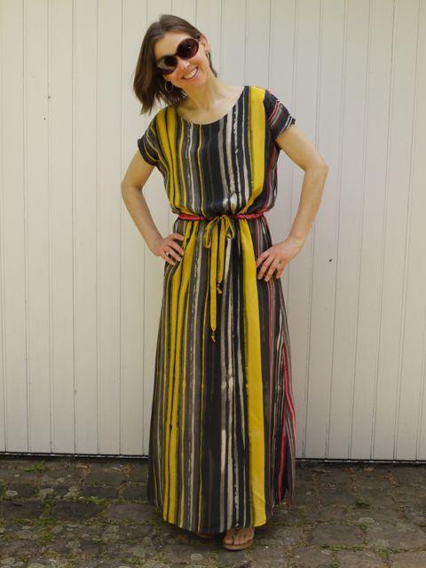 April Rhodes Staple Dress in maxi length in Italian silk crepe de chine.