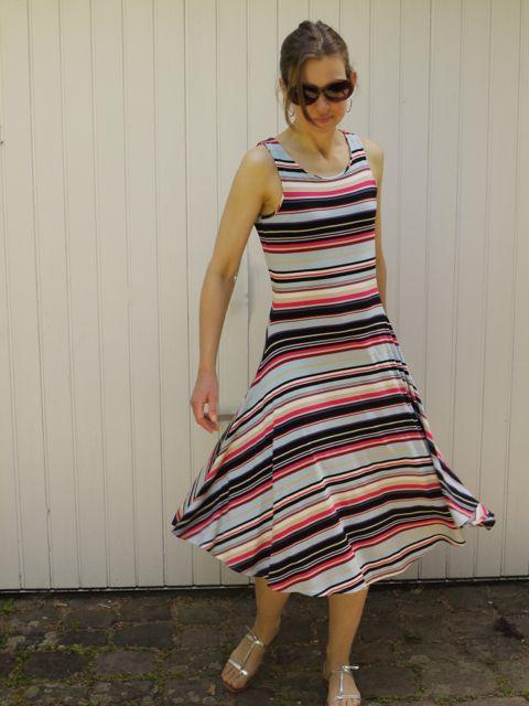 stripe jersey dress 1