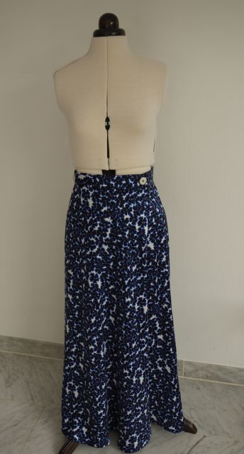 Finished maxi Miette skirt with buttons on waistband.