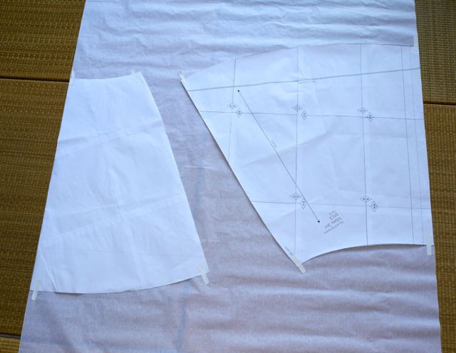 Tape pattern to pattern paper.