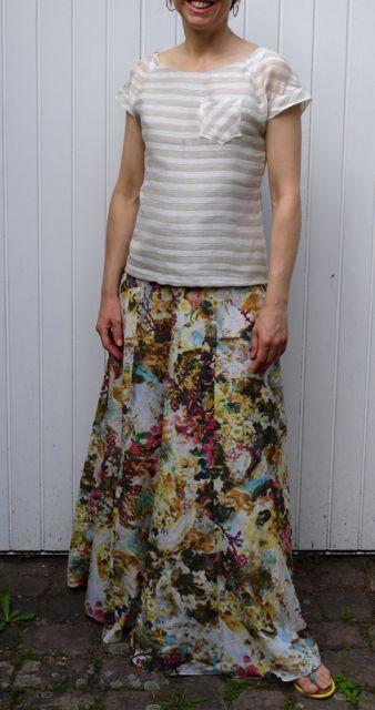Gabriola skirt by Sewaholic Patterns in cotton/silk batiste.
