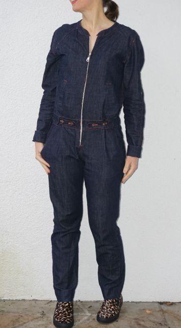 Burdastyle Easy S/S 14 jumpsuit in organic cotton 6oz denim.