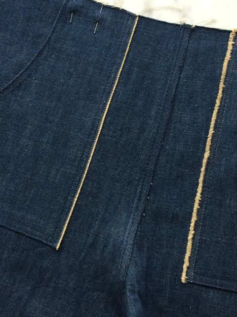 Denim selvedge pocket detail.
