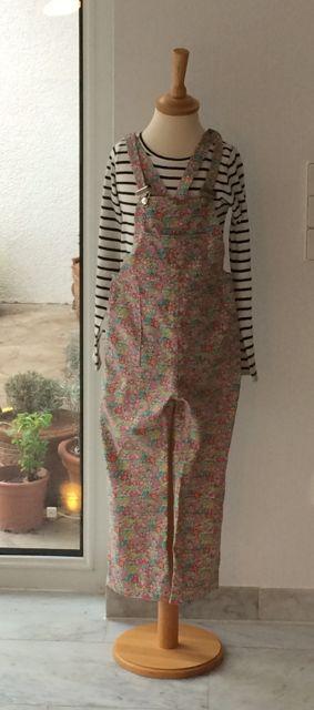Turia Dungarees by Pauline Alice in Liberty Art Fabrics babycord.