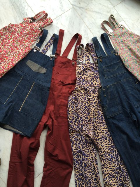 #aweekofturias Week Three Six pairs of Turia dungarees finished.